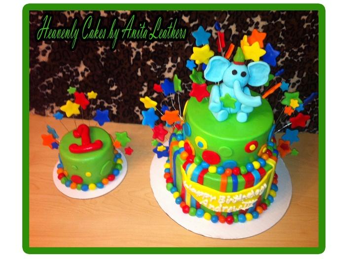 111 best Grand kids 1st Bday cakes images on Pinterest Fondant