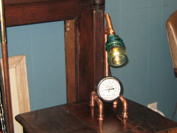 Lampe de bureau industrielle steampunk par CollectibleEmporium