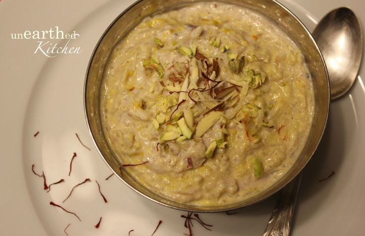 Kheer   Rice Pudding with the sweetness of Dates