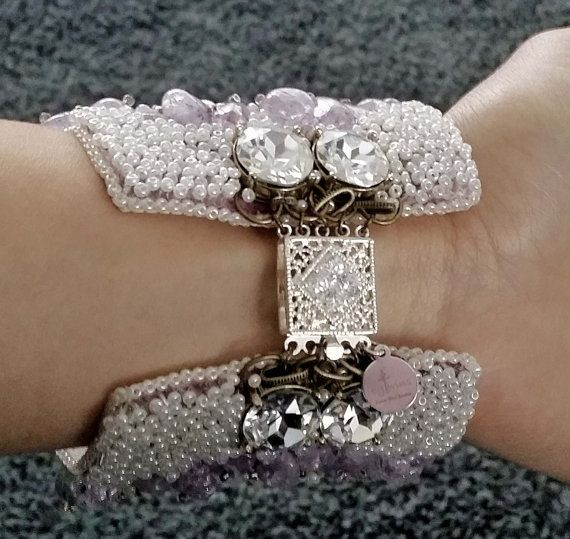 Frozen Spring Vintage handmade Embroidery Bracelet with by BYTWINS, €210.00