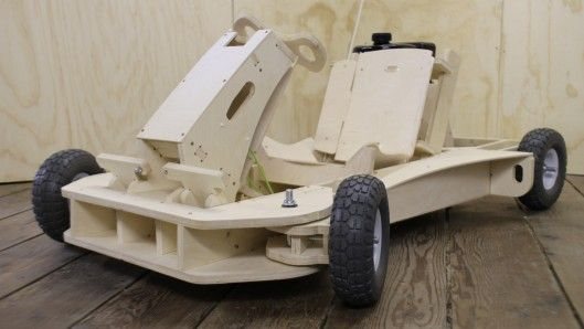 The PlyFly Go-Kart is a flatpack go-kart that's powered by a 4-stroke engine. Can be assembled in just a few hours & promises speeds of up to 25 mph (40 km/h). I WANT ONE!