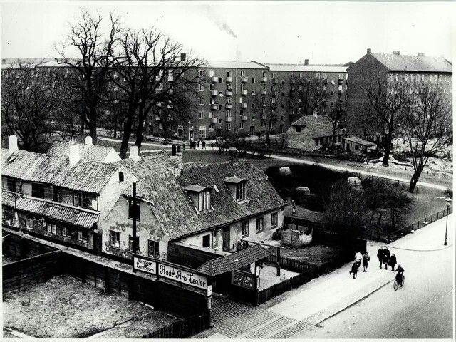 Røde Kro hjørnet - Øresundsvej, Moselsgade i 1960