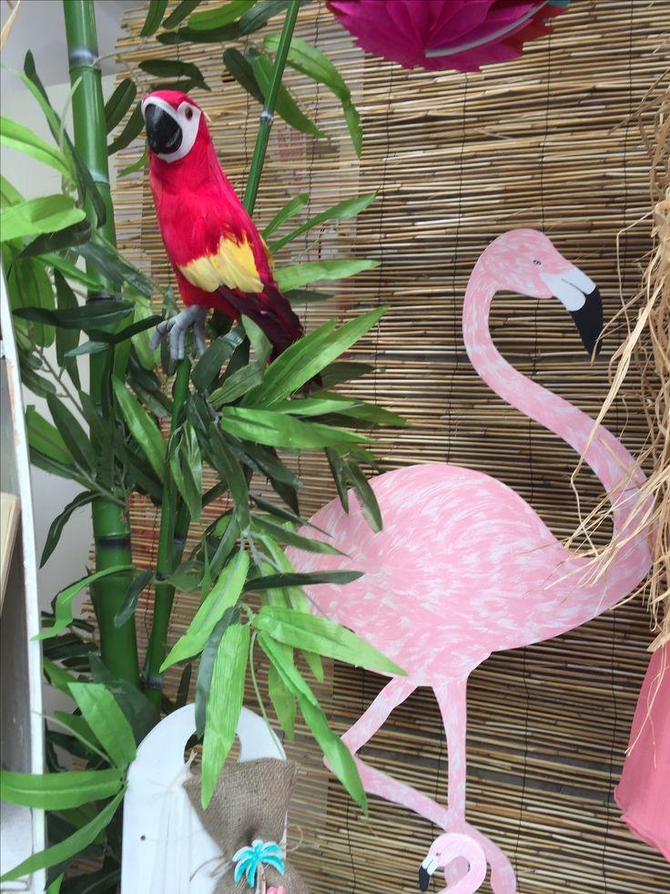 """Aloha!!! Nikolas Ker """"the store"""" #aloha #summer #decoration #nikolas_ker #athens #greece #store #shop #flamingo #baptism #vaftisi #parrot #vaptisi"""