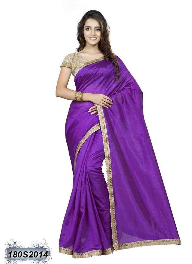 Beautiful Purple Coloured Bhagalpuri Saree