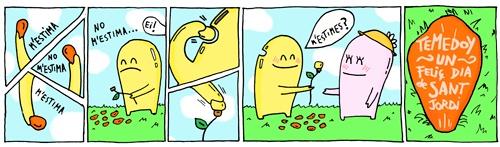 Temedoy un sant Jordi#TEMEDOY#puntos libro#tiras cómicas#