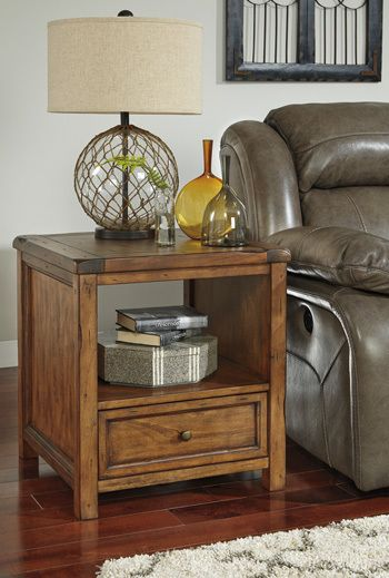Ashley furniture T830-2 Square End Table/Tamonie in Tampa and Bradenton at Highland Park Furniture
