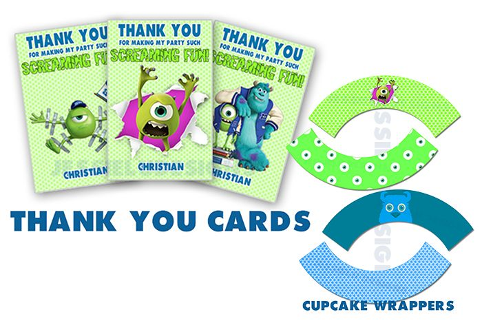 50pcs #MonstersUniversity  Birthday Party Kity! http://etsy.me/188pwU1 #CandyWrappers #CupcakeToppers #CupcakeWrappers # PopcornBox #ThankYouCard #Favor #tags #birthday #banner