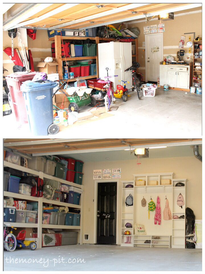 Garage mud room idea