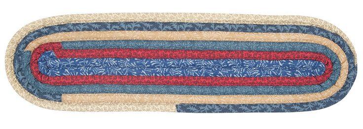 Best Fabricord® Oval Braided Stair Tread Qc06 Denim With 400 x 300