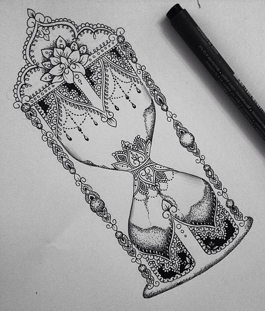 • tattoo • vintage • dotwork • flowers • swirls • lace •