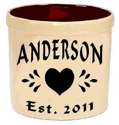 Personalized crock