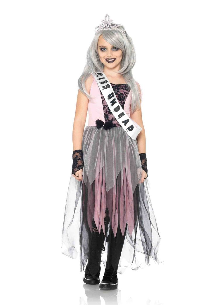 Girl's 4PC.Zombie Prom Queen Costume