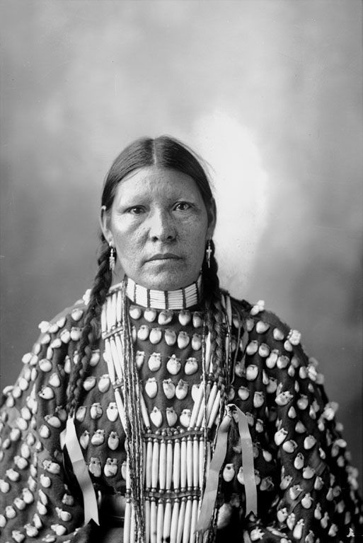 The American Indian called Freckled Face Woman of the Arapaho Nation 1898.