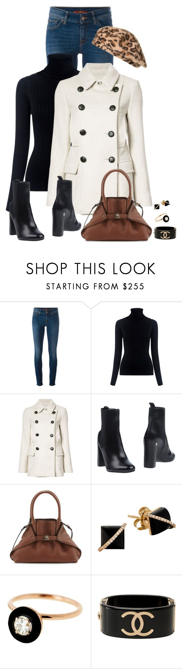 """""""Leopard Beret (Outfit Only)"""" by fashionaddicta9 ❤ liked on Polyvore featuring 7 For All Mankind, M.i.h Jeans, Étoile Isabel Marant, Neil Barrett, Akris, Madyha Farooqui, Selim Mouzannar and Chanel"""