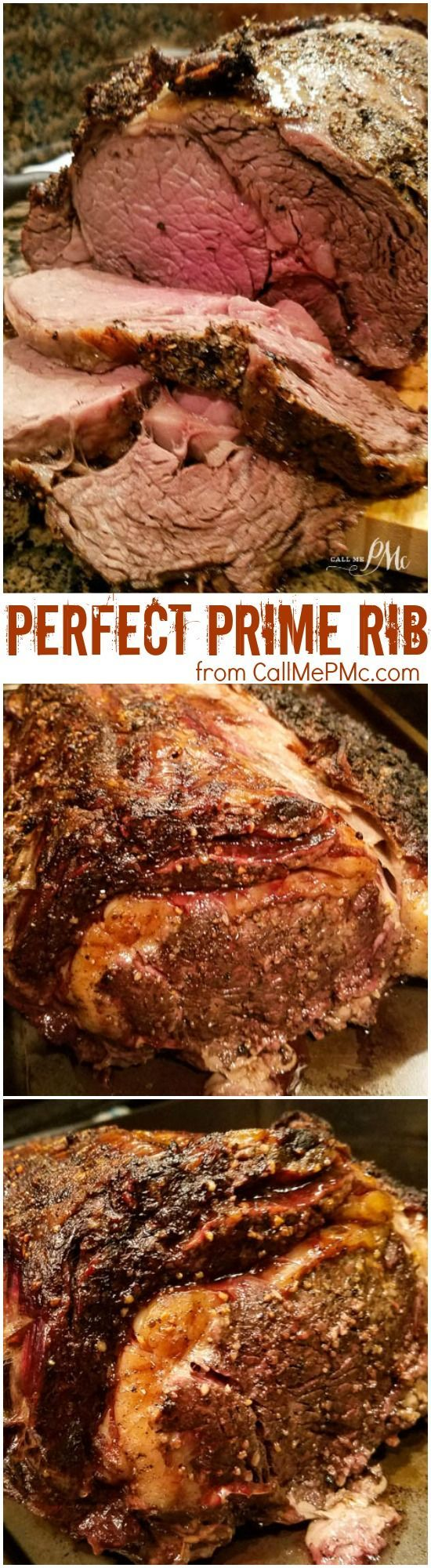 Perfect Prime Rib Medium Rare Oven Cooked recipe - Ideal for entertaining and holidays, Perfect Medium Rare Oven Roasted Prime Rib makes an impressive and elegant main course recipe. It's full of flavor, moist, and practically melts in your mouth!