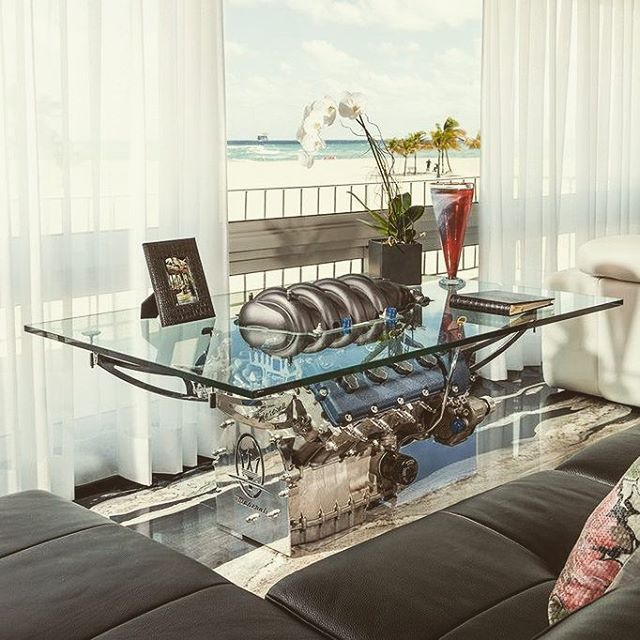 Maserati Grant Turismo Coffee Table - Pinned by Ryan Richard Gelatka #RyanGelatka RyanGelatka.com