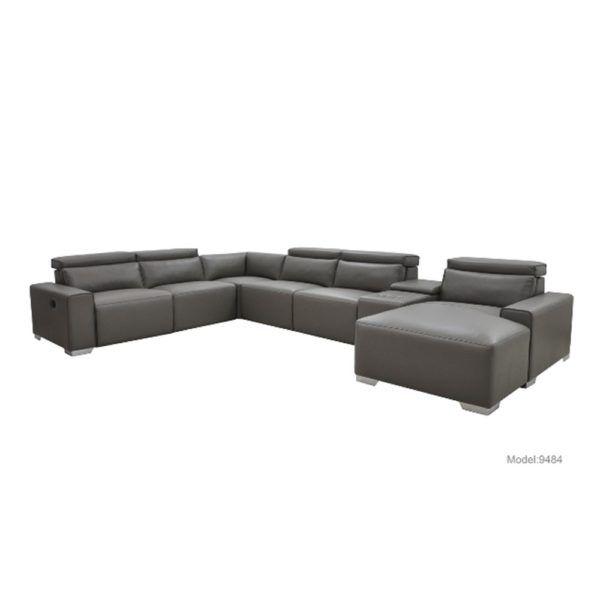 Allegro – 6 Seat Modular, Lefthand Recliner + Corner + Chaise – Graphite. For more information Please take a moment to visit our website : http://www.furniture2you.com.au/