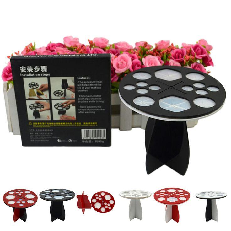 Acryl Bord Kosmetik Make-Up Pinsel Halter Pinsel Trocknen Ständer Storage Make-Up Pinsel Set Zeige Rack Organizer