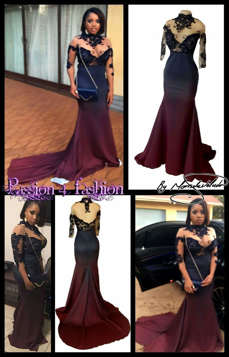 Navy Blue Amp Burgundy Ombre Matric Dance Dress An Illusion