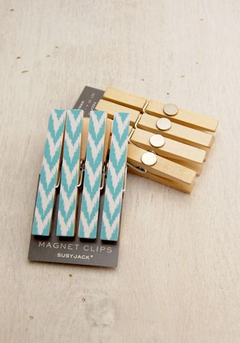 Magnet clips. VERY CUTE! #crafts