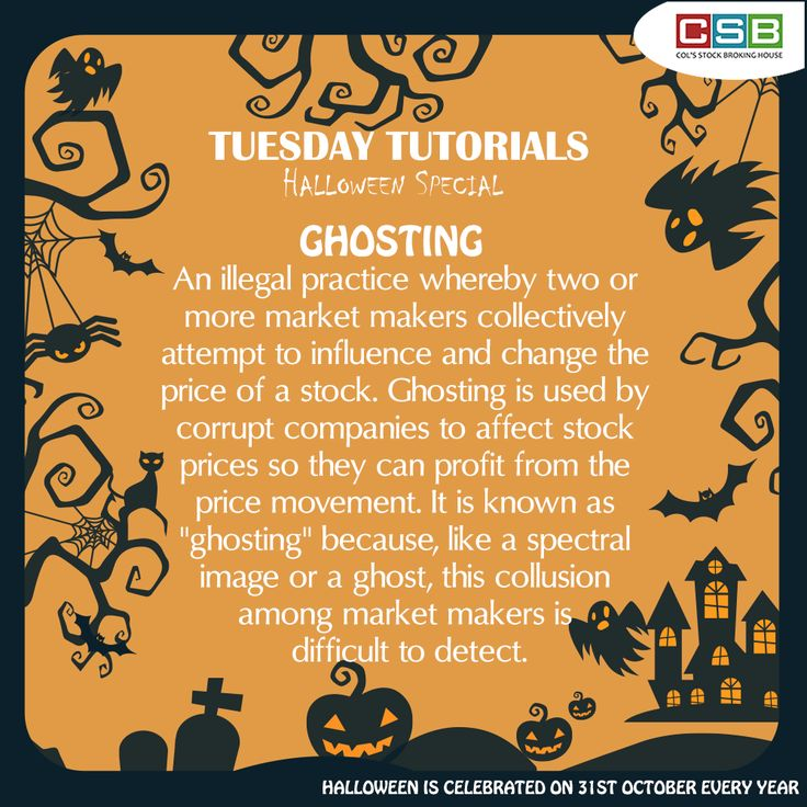 Tuesday Tutorial - Halloween Special What do we mean by the term 'GHOSTING' ?  #Finance #dictionary #meaning