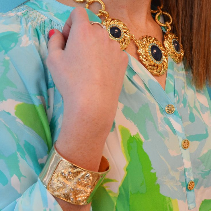 Lilly Pulitzer Elsa Top In Poolside Blue First Impression