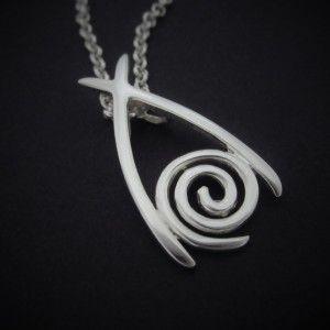 Handmade Silver Newgrange wishbone pendant