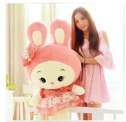 >> Click to Buy << stuffed animal 85 cm cute rabbit pink skirt rabbit plush toy doll gift  w2554 #Affiliate