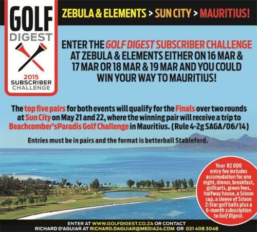 Zebula / Elements Golf Digest Subscriber Challenge.