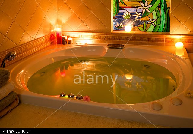 Candle Light Jacuzzi Stock Photo, Picture and Royalty Free Image. Pic. 72293299