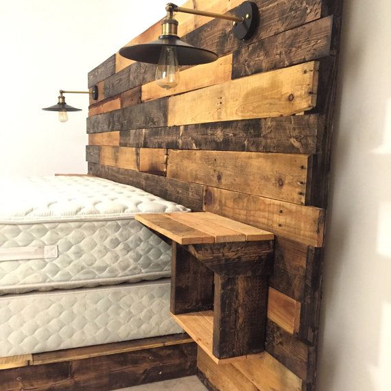 The 25 best ideas about rustic headboards on pinterest diy headboard wood barn wood - Hoofdbord wit hout ...