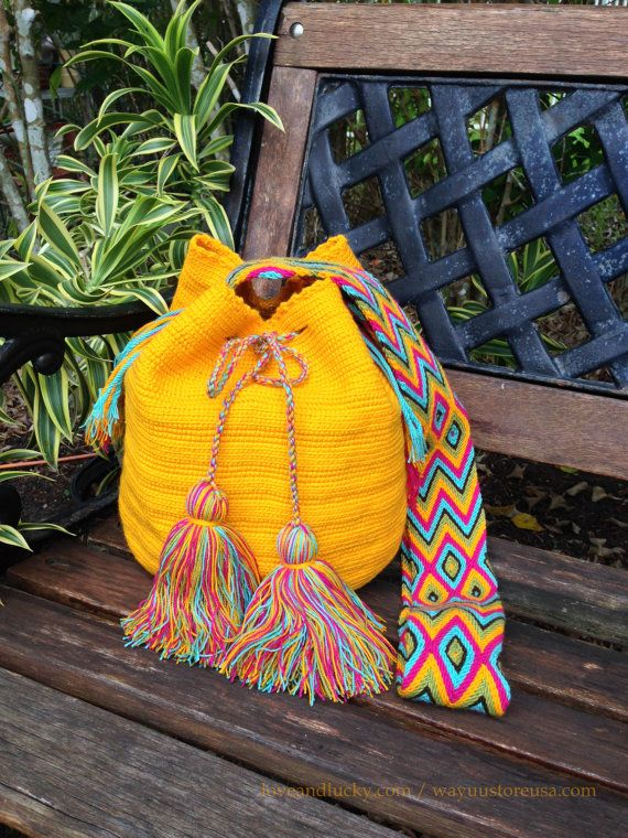 Wayuu Bags / Wayuu Mochilas are handmade by the Wayuu Indigenous from Colombia…