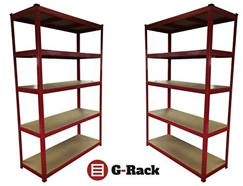 From 81.99 2 Bay 180cm X 120cm X 45cm 5 Tier (265kg Per Shelf) Heavy Duty 1325kg Capacity Extra Wide Garage Shed Racking Storage Shelving Unit 5 Year Warranty