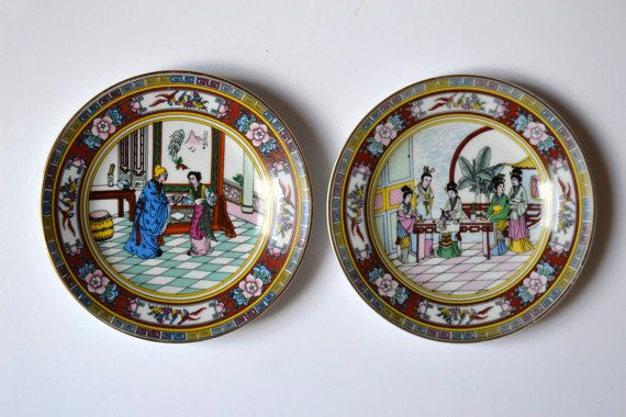Platos decorativos asiáticos vintage por Limbhad en Etsy, €12.50