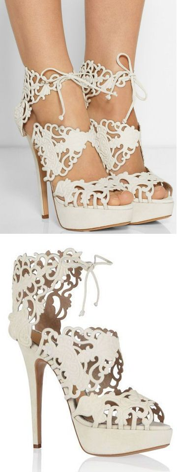 Baroque Cutout Sandals ♡   Not sure what it is but I love these!