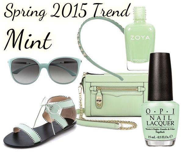 Spring 2015 Nail Color Trend - Mint via @alllacqueredup