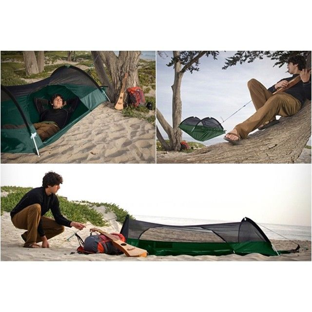 instead of sitting at your mundane job you could be this guy playing a ukulele on the beach  get your blue ridge hammock that doubles as a bivy sack on the     30 best camping hammocks images on pinterest   camping hammock      rh   pinterest