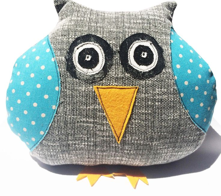 Blue Polka Dot - Grey Mintchi Owl - Awake - LRG (Home). For more kids gifts that are unique and limited edition please visit thelittledistinctions.com where giving great gifts is easy.  Discover more.#ecofriendly #homewares #blue #spottyowl #environmentallyfriendly #toys #kidsgifts #gifts #christening #babyshower #upcycled #interiors #nursery #decorationsforkids #pink #bedroom #livingroom #hello #office #study #decorate #owls #animals #harrypotter