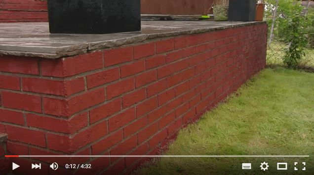 How to make a fake wall with fake brick effect render