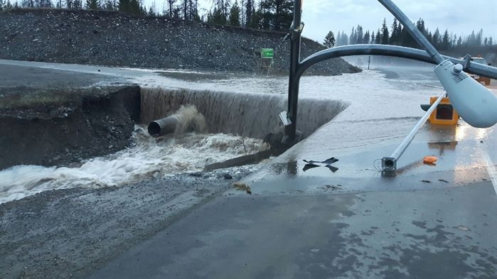 KAMLOOPS – The recent rainfall and snowmelt is wreaking havoc on properties near creeks and streams and many of our highways have not been spared. Rivers are running high, lakes are full and the threat of risi