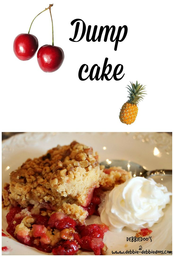 How to make cherry pineapple dump cake. Only three ingredients. So delicious!