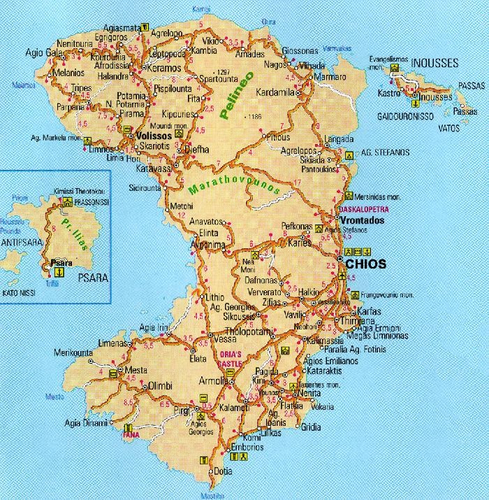 Chios Map