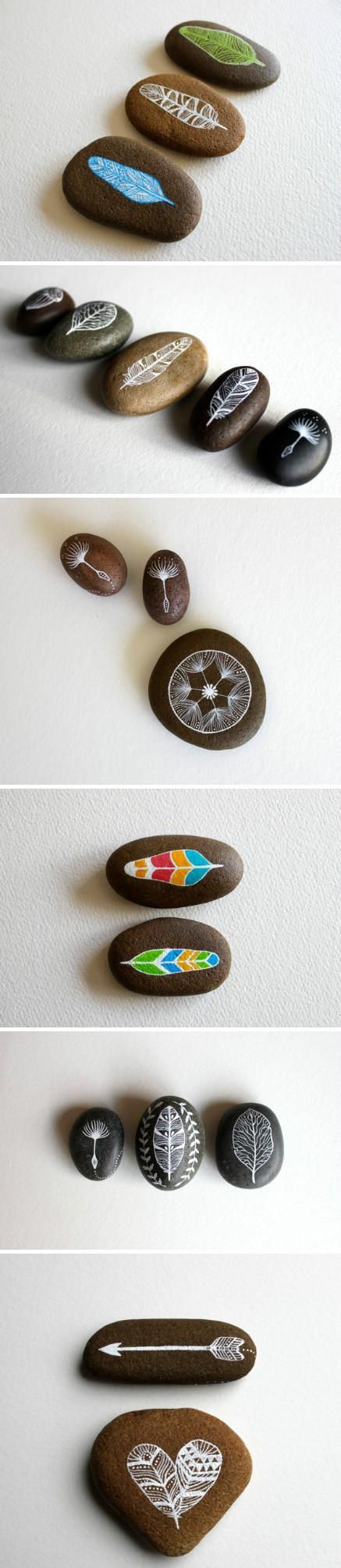 More beautifully painted pebbles, time to go beach combing...