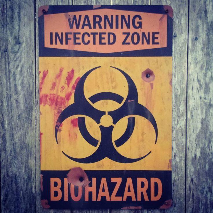 Replica prop signage Biohazard #signage #prop #biohazard #zombie #replica # zone