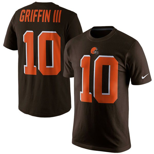 Robert Griffin III Cleveland Browns Nike Player Pride Name & Number T-Shirt - Brown - $19.99