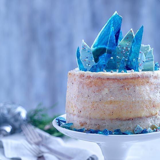 Naked Frozen Cake, kage, jul, dansukker, julekage, inspiration, opskrift, bageglæde,