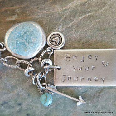Quartz crystal necklace, word jewelry inspiration, crystal jewellery, vegan jewelry