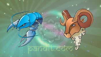 CANCER AND ARIES COMPATIBILITY by Acharya Rahul Kaushal  ----------------------------------------------------- Aries Cancer combination has so many differences and it is very hard to see it lasting beyond the initial attraction. An Aries is full of impulsiveness and enthusiasm where as the Cancerians are conservative and security oriented.  http://www.pandit.com/cancer-love-sign-compatibility/