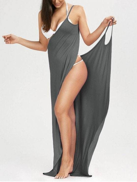 9bb5ddad54efc Wrap Around Beach Dress in 2019 | Clothes | Dresses, Long slip dress ...