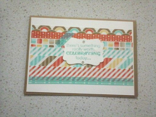 "Birthday Card - (inside it reads ""You! Happy Birthday) using Stampin' Up products"
